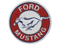 Ford Mustang Round Embossed Magnet
