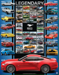Mustang 50 Years Legendary Poster - 50th Anniversary of the Ford Mustang