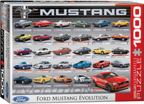 Ford Mustang Evolution 50th Puzzle - 1000 Pieces Landscape Style