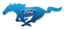 "24"" Blue Ford Logo Cutout Running Horse Sign"