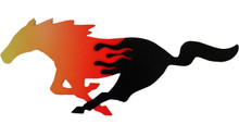 "24"" Flaming Mustang Cutout Running Horse Sign"