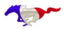 "24"" FR Mustang Unites Cutout Running Horse Sign"