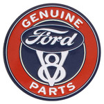 Ford Parts Embossed Tin Magnet