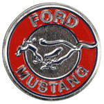 Ford Mustang Round Embossed Tin Magnet