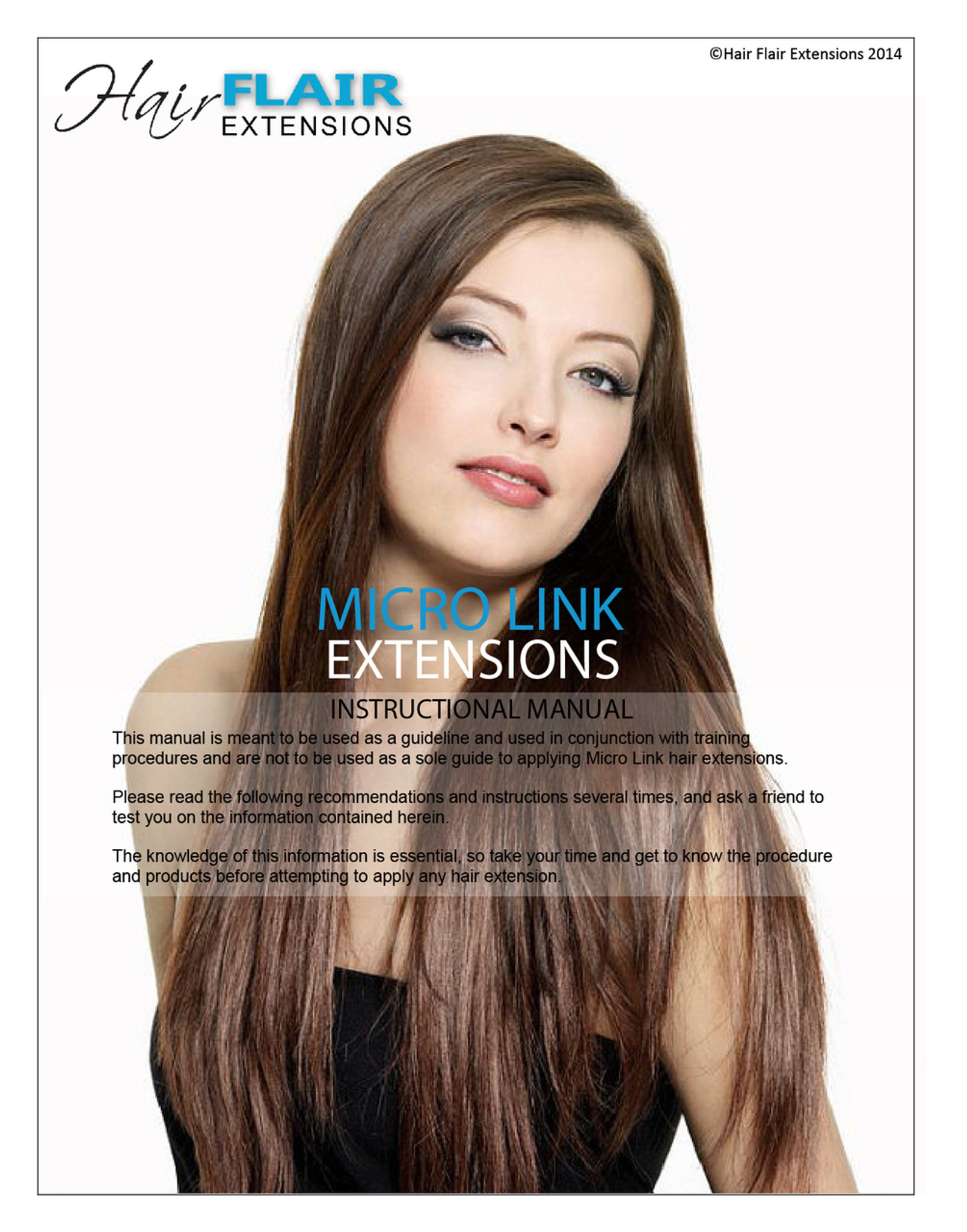 Micro Link Extensions Manual Hair Flair Extensions