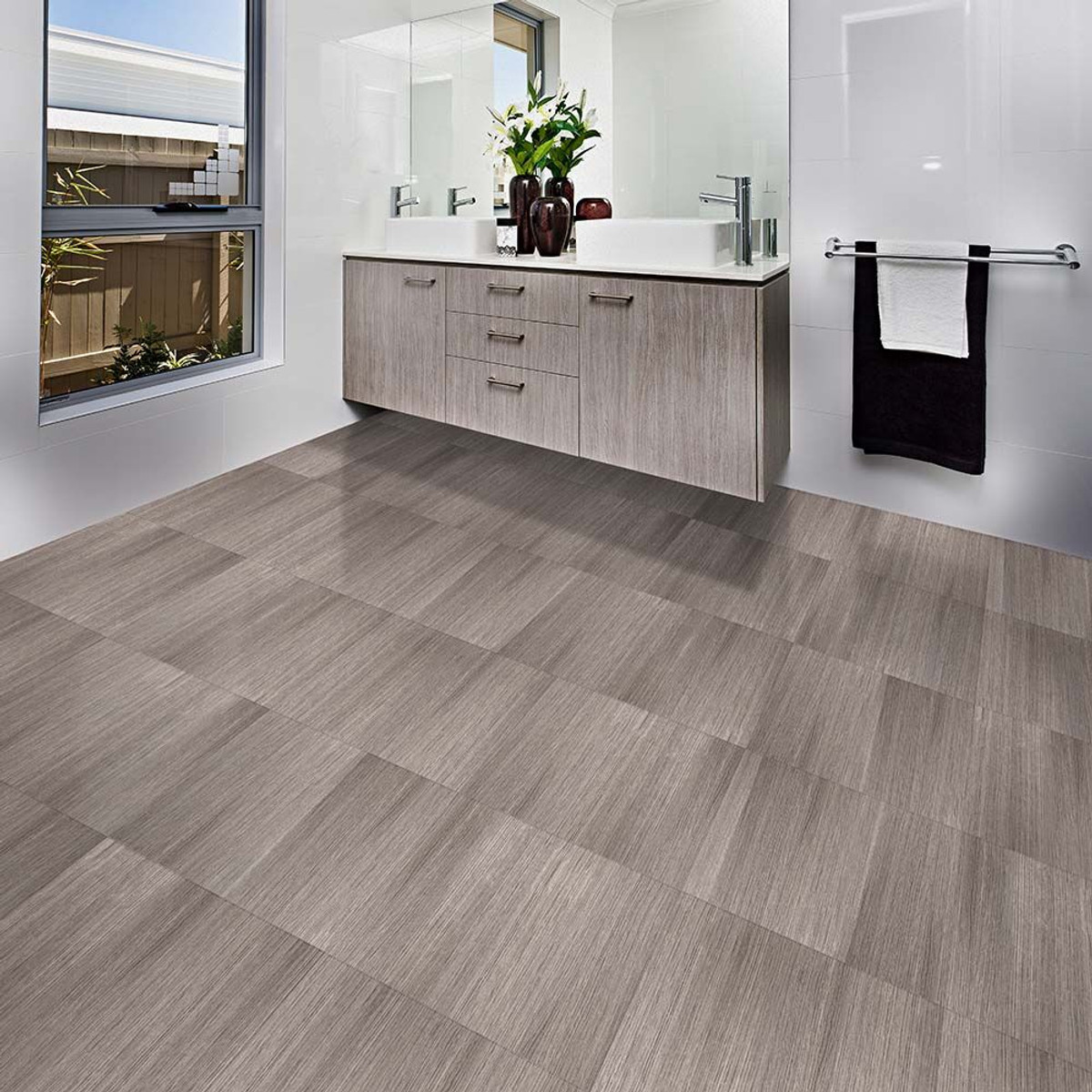 floor piece tile gray floors vinyl travertine luxury x perfection pattern in pd shop locking