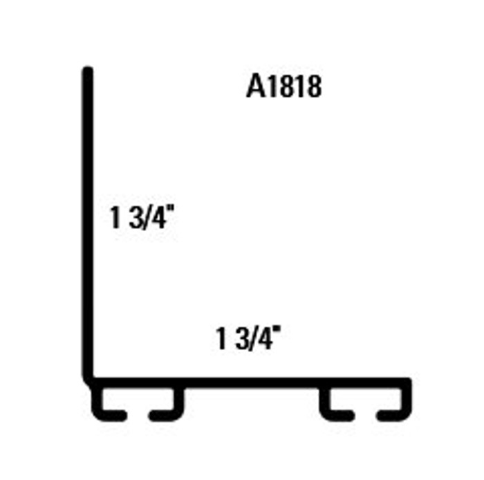 "Aluminum Bottom Seal Retainer 1 3/4"" x 1 3/4"" L Shape A1818"
