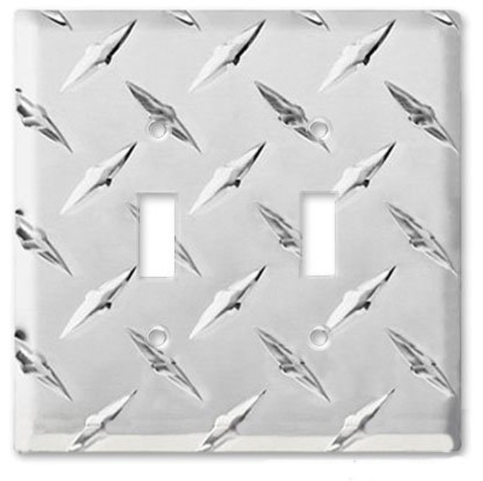 Aluminim Diamond Double Switch Cover