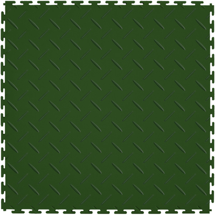 Flexi Tile Perfection Floor Tile Diamond Pattern Hunter Green