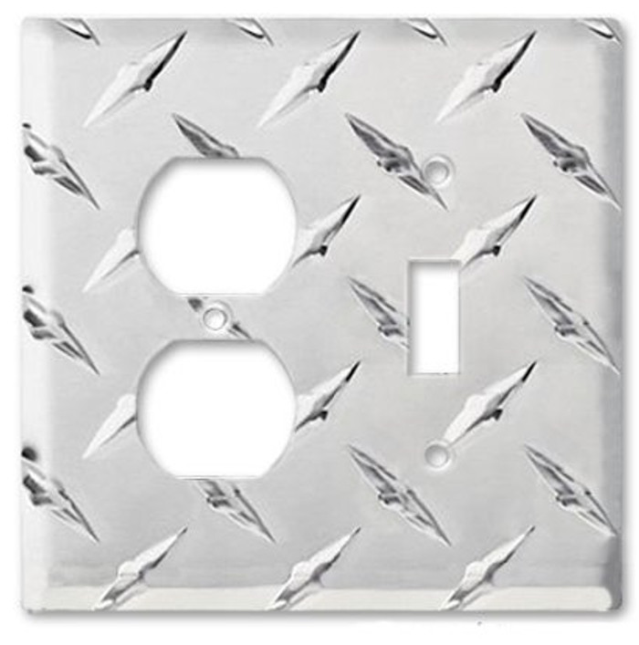 Diamond Plate Aluminum Outlet Switch Cover
