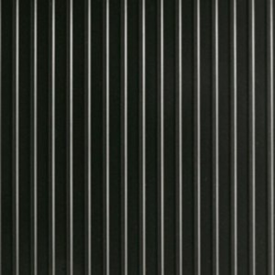 G-Floor Ribbed Pattern Rollout Floor Covering - Midnight Black Close Up of Material and Pattern