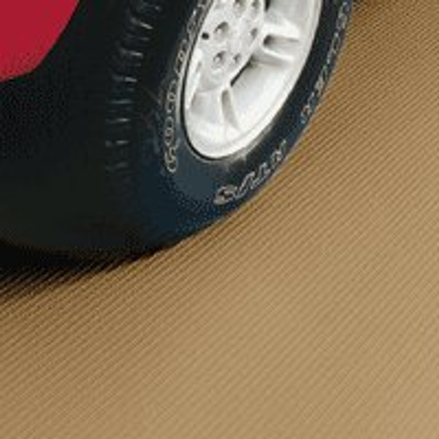 G-Floor Ribbed Pattern Rollout Floor Covering - Sandstone tan