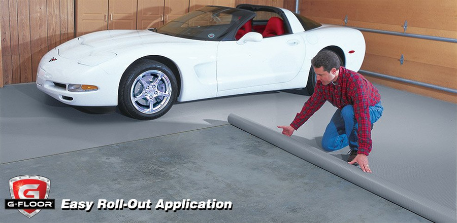 G-Floor Ribbed Pattern Rollout Floor Covering is a fast and easy install!