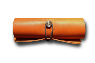Orange Ledr Tool Roll