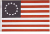 BETSY ROSS BULLDOG COTTON FLAG 2X3' TO 4X6'