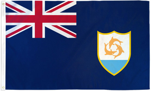 ANGUILLA 3X5' S-POLY FLAG