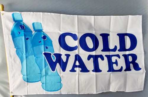 COLD WATER 3X5'  S-POLY FLAG