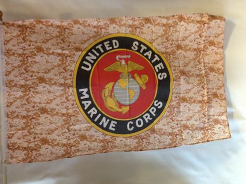 MARINE CORP DIGITALLY PRINTED CAMO 3X5' S-POLY FLAG