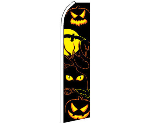 HALLOWEEN EYES SWOOPER FLAG 11.5X2.5'