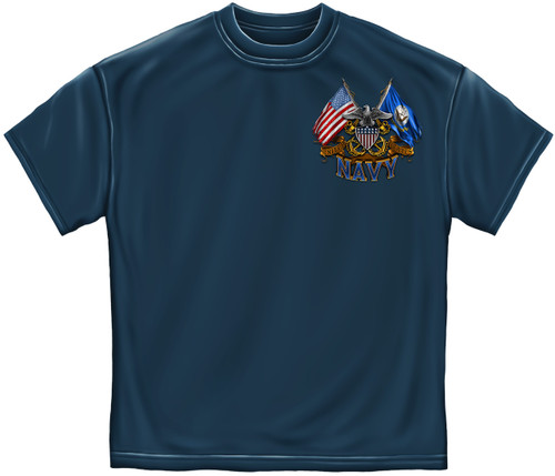 DOUBLE FLAG US NAVY T-SHIRT