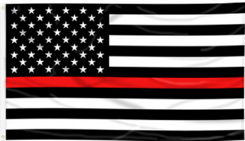 THIN RED LINE U.S. 3X5' POLY FLAG