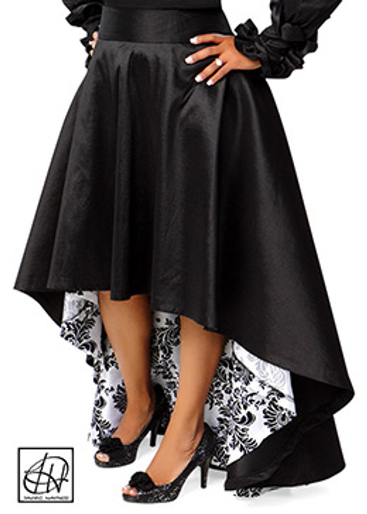 TAWNI HAYNES ASYMMETRICAL HIGH WAIST SWING SKIRT