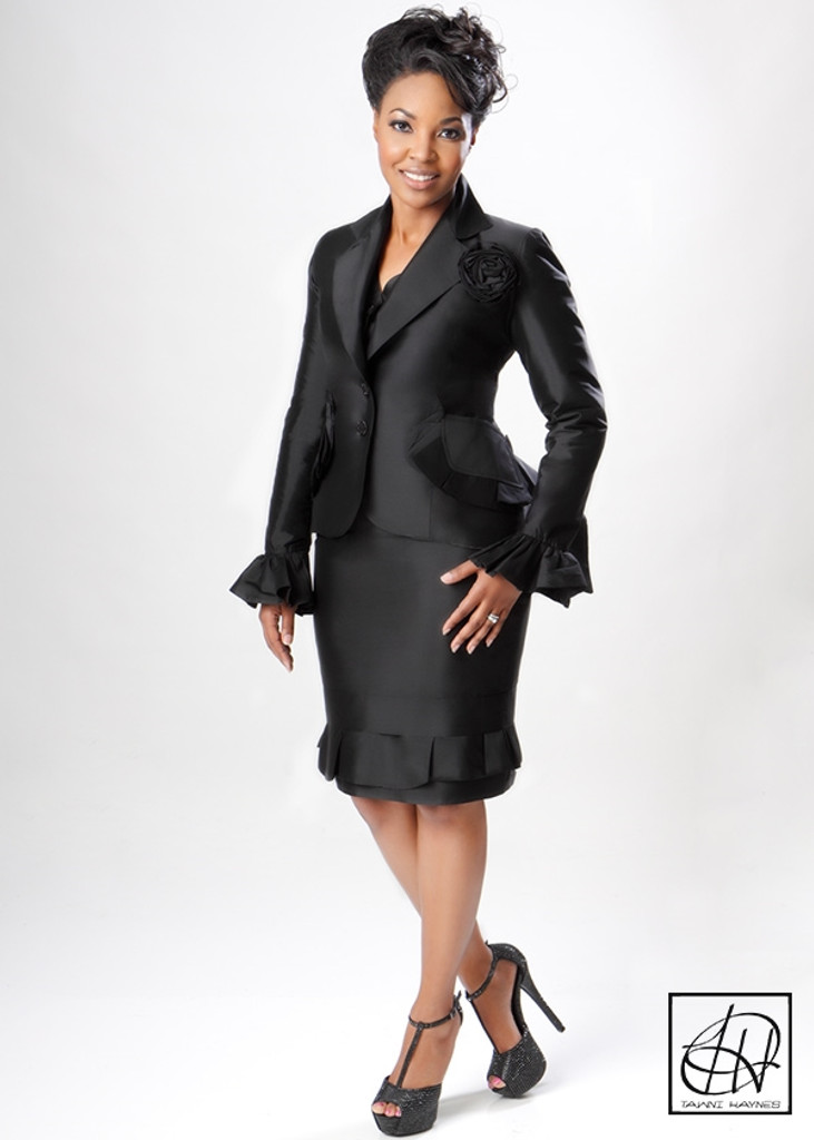TAWNI HAYNES LAYERED PEPLUM CUSTOM SUIT