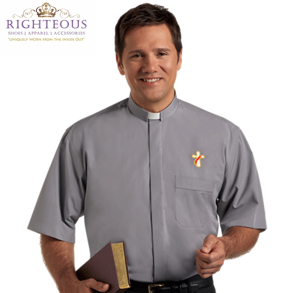 Men's Clergy Shirt RSASM-120 (Deacon Monogram)