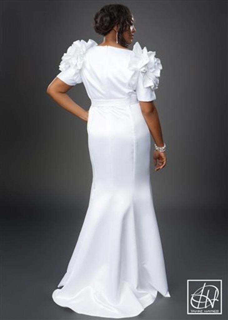 TAWNI HAYNES ROSETTE SHOULDER GOWN (CUSTOM)