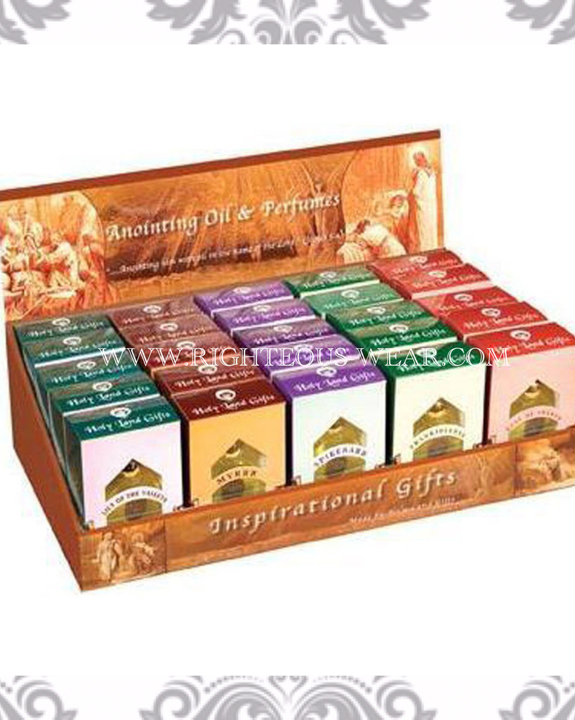 Anointing Oil Display Box with 25 Oil Assortment