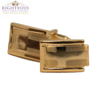Gold Cross Cuff Links 19553