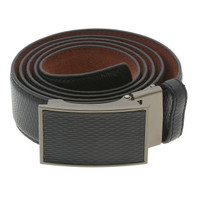 RS&A CROSS & CROWN MEN'S 100% LEATHER BELT #:05C113