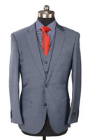 RSA 3 Piece Medium Grey Slim Fit Suit