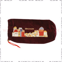 Embroidered Jerusalem Rams Horn Bag
