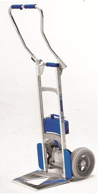 Wesco 274149 Liftkar SAL Fold Handle Motorized Stair Climbing Hand Truck (375 lb. Capacity Pneumatic Wheels) In-transit batter charger BC 10-30 VDC, Cargo strap with Buckle,Battery pack retention arm, Keg Hook