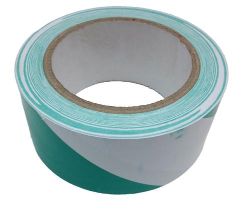"""Green/White Safety Stripe Vinyl 2""""x36yd (24 Roll Case / $3.19 Per Case)"""