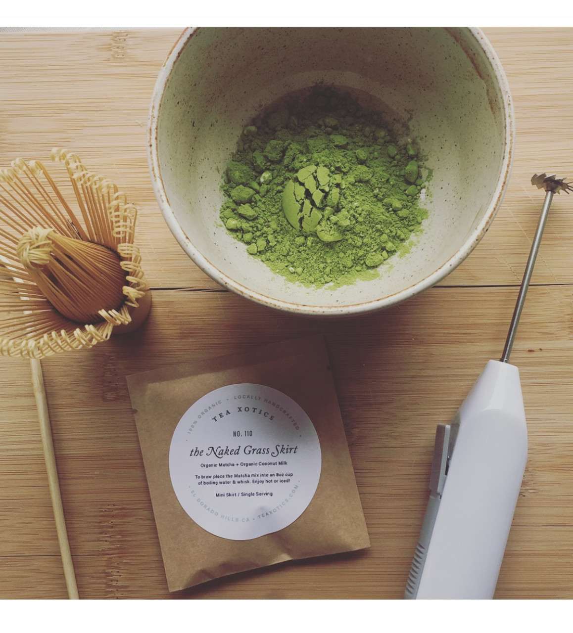 How to make Coconut Grass Skirt Matcha!