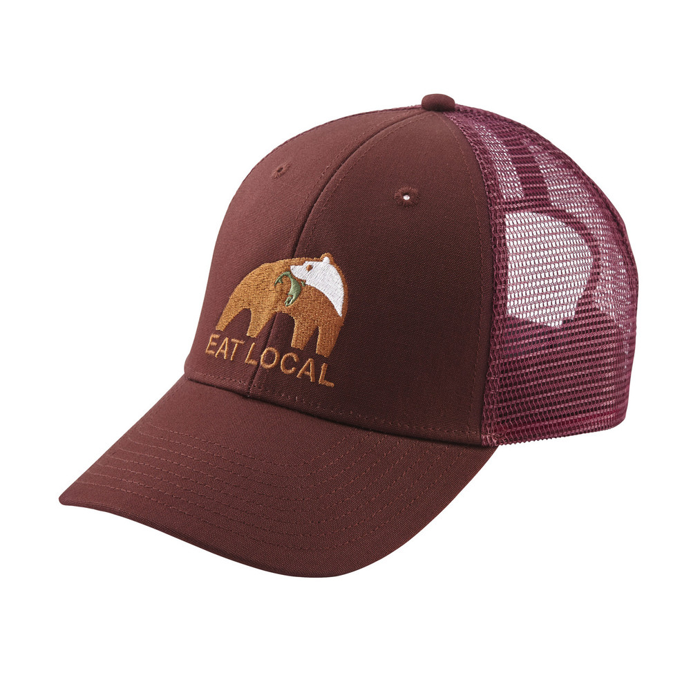 Eat Local Upstream LoPro Trucker Hat Dark Ruby ALL