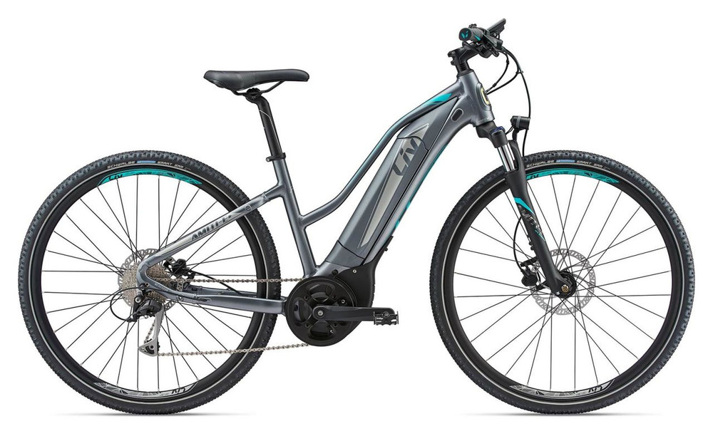 REDISCOVER YOUR SENSE OF ADVENTURE WITH AN E-BIKE THAT TAKES YOU THROUGH THE CITY AND BEYOND.  Why We Love It The Amiti-E+ is a versatile new E-bike from Liv that lets you explore gravel paths as well as open roads. Its wider tires add extra comfort and stability on any surface, and make the Amiti-E+ the perfect bike to get you rolling and exploring new terrain.