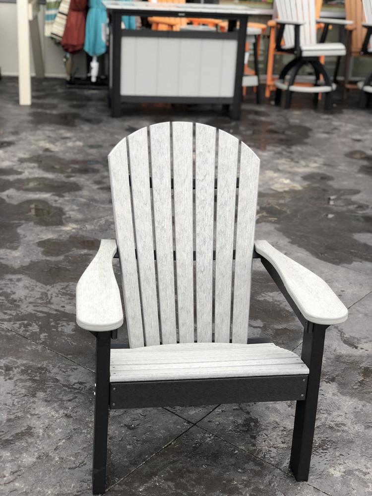 Adirondack Chair Seashell on Black
