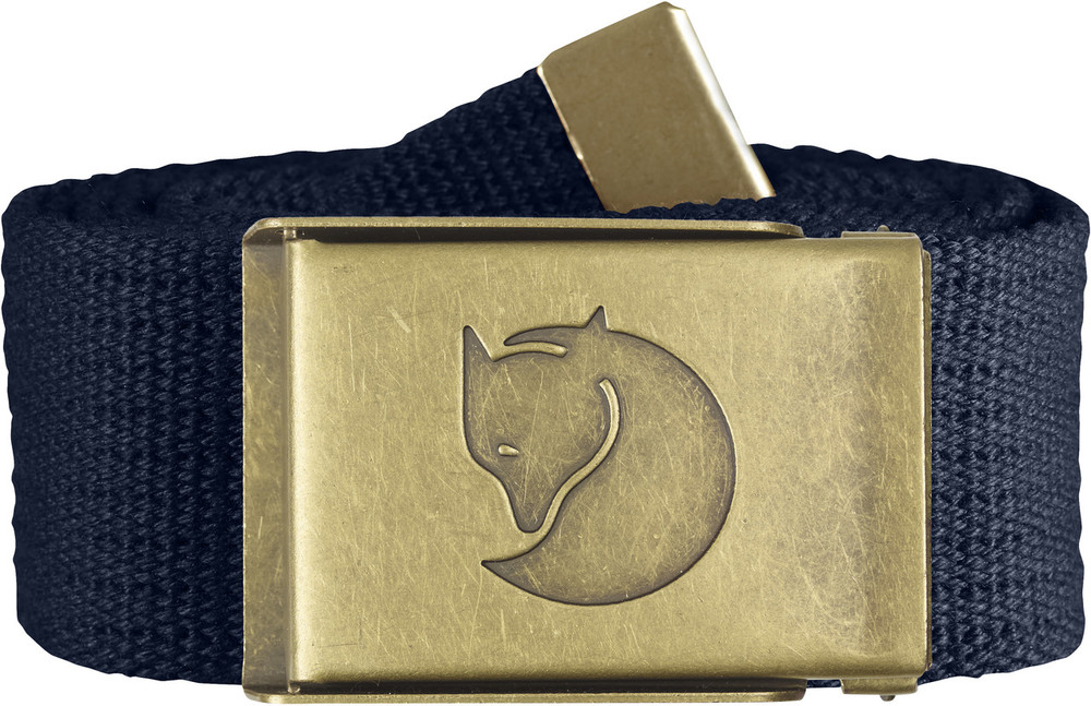 Canvas Brass Belt 4 cm. / Canvas Brass Belt 4 cm. Dark Navy 1 Size
