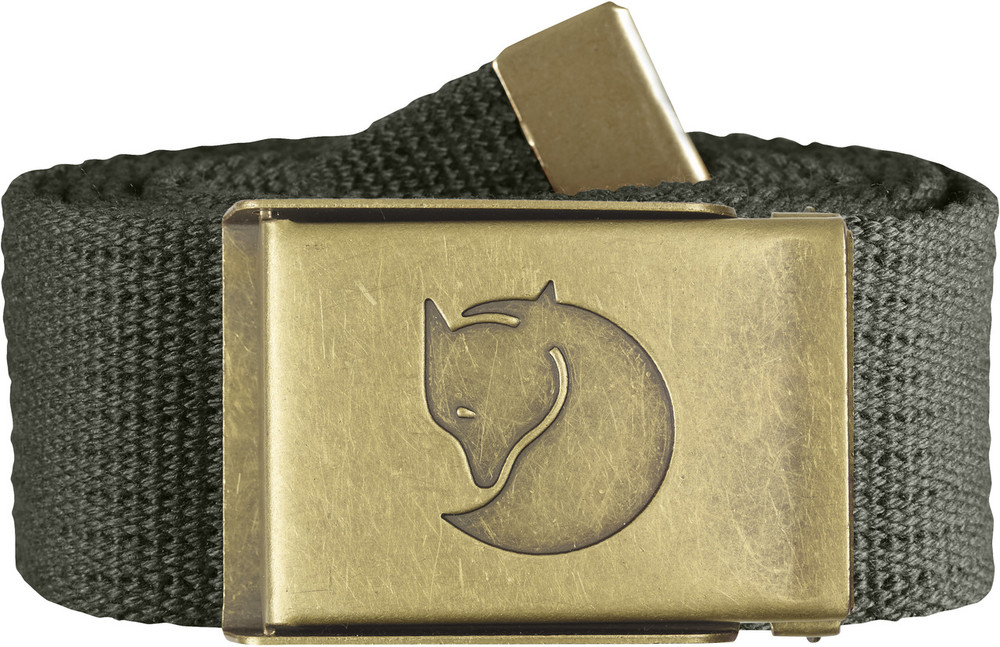 Canvas Brass Belt 4 cm. / Canvas Brass Belt 4 cm. Mountain Grey 1 Size