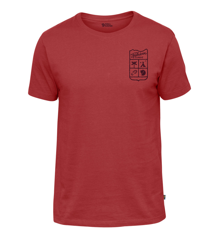 Fjallraven Classic T-Shirt / Small Classic Badge T-Shirt Lava