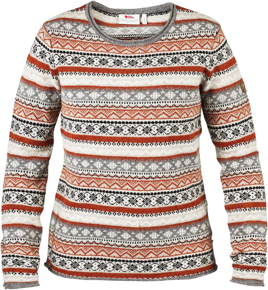 Ovik Folk Knit Sweater W Fog