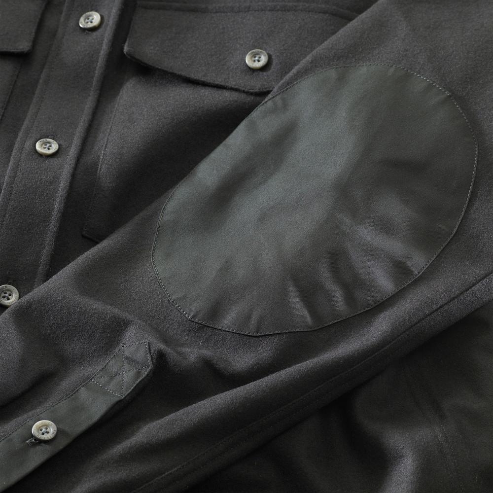 Ovik Re-Wool Shirt LS Dark Grey
