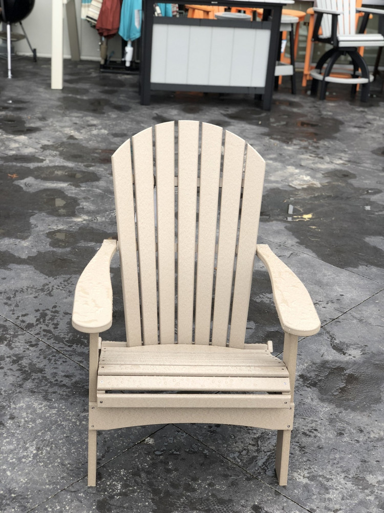 Folding Adirondack Chair Weatherwood