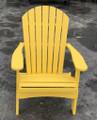 Folding Adirondack Chair Sunburst Yellow