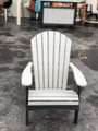 Folding Adirondack Chair Light Gray on Black