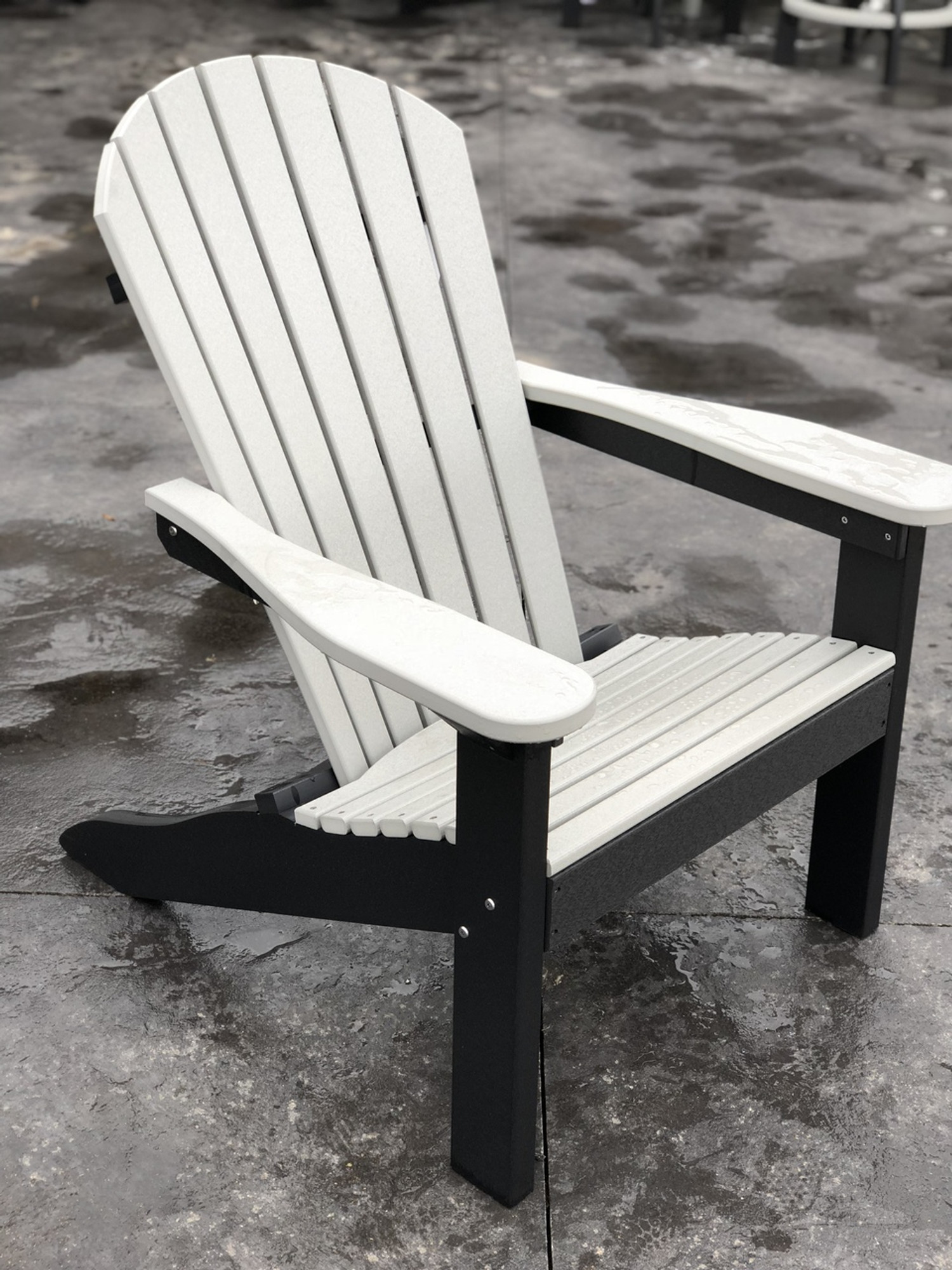 Adirondack Chair Light Gray On Black Adirondack Chair Light Gray On Black  ...