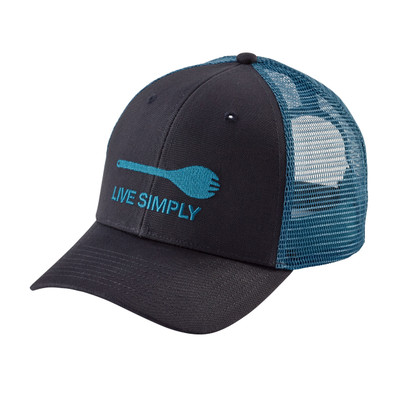 Live Simply Spork Trucker Hat Smolder Blue ALL